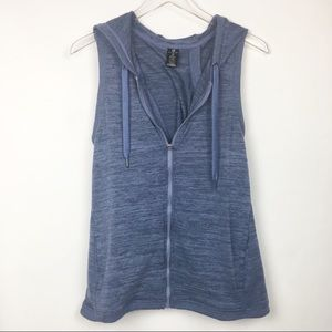 Active Life | Blue Hooded Vest Jacket Yoga Medium